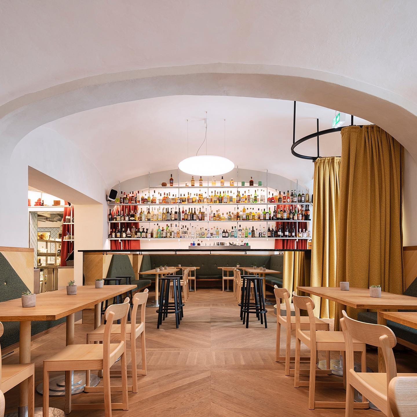 Lighting Design for Cafe Kandl, Vienna - completed in 2019 -  Architecture by IFUB & Photography by Sorin Morar #lighting_design #vienna #cafedesign #austrianarchitecture #coffeeculture